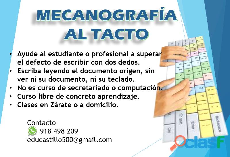 MECANOGRAFÍA AL TACTO 0