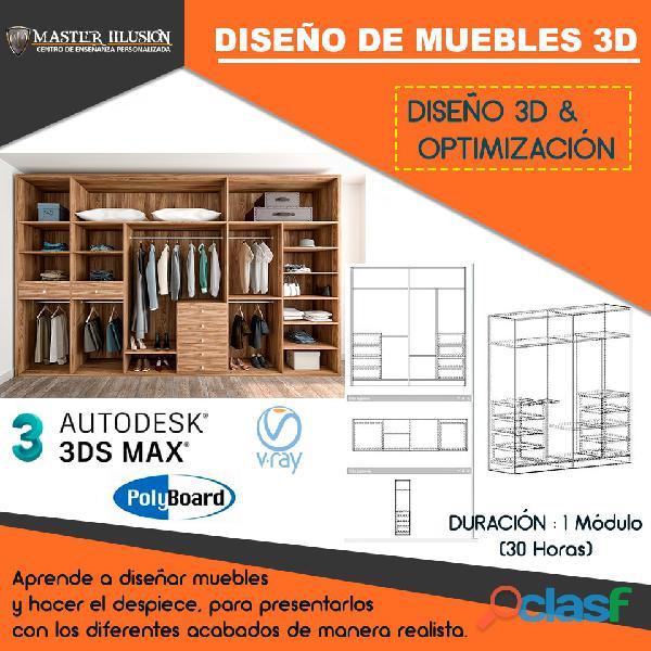 Curso Diseño y Modelado de Muebles de Melamina en 3D 0