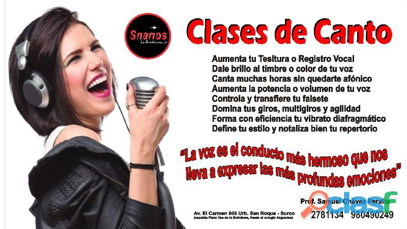 CLASES DE CANTO 0