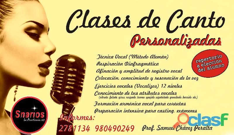 CLASES DE CANTO 17