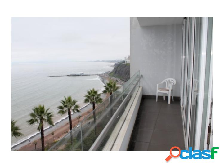 Departamento en Alquiler en Miraflores Exclusivo Vista al Mar 3 dormitorios amoblado Terraza 3