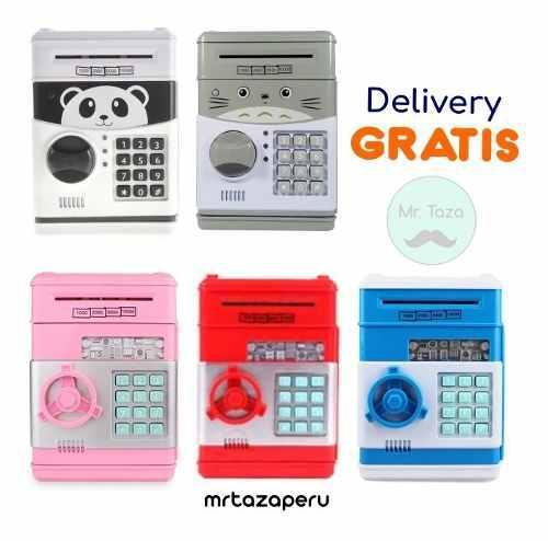 Alcancia Electronica Caja Fuerte Clave Secreta Garantia 0