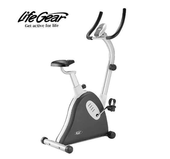 Bicicleta estacionaria life gear modelo 22300 uprite deluxe 0