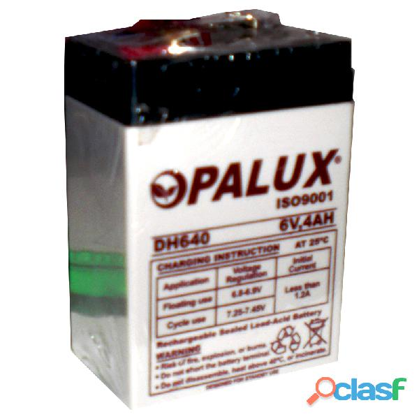 Batería seca recargable de 6v 4 ah iso 9001 opalux