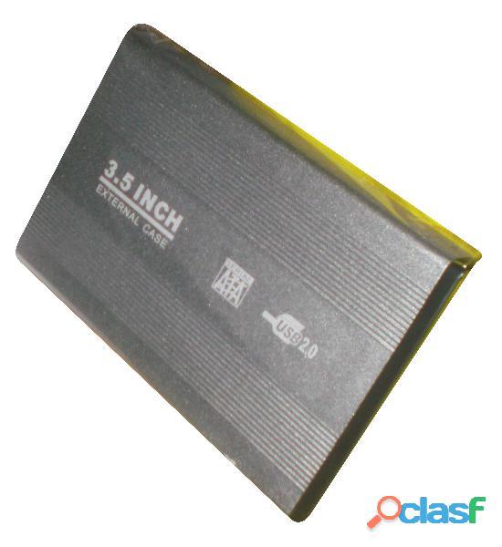 """case USB 2.0 para disco duro SATA 3.5"""" enclosure externo aluminio 4"""