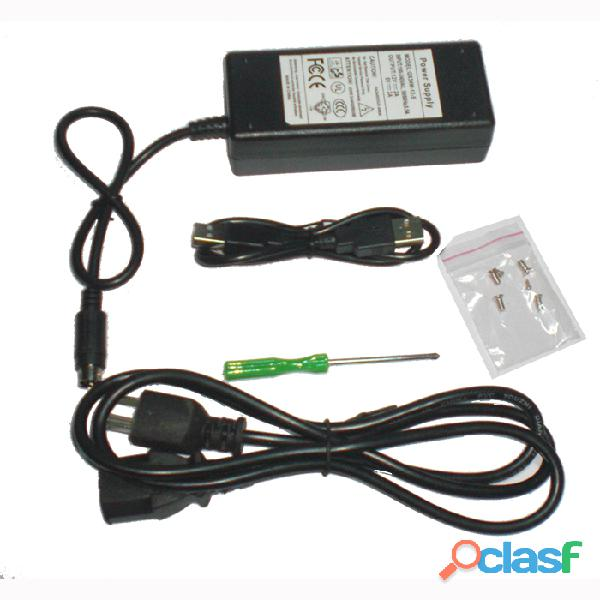 """case USB 2.0 para disco duro SATA 3.5"""" enclosure externo aluminio 2"""