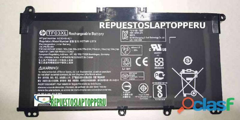 Bateria Hp Tf03xl 15 cc502la nuevo con garantía