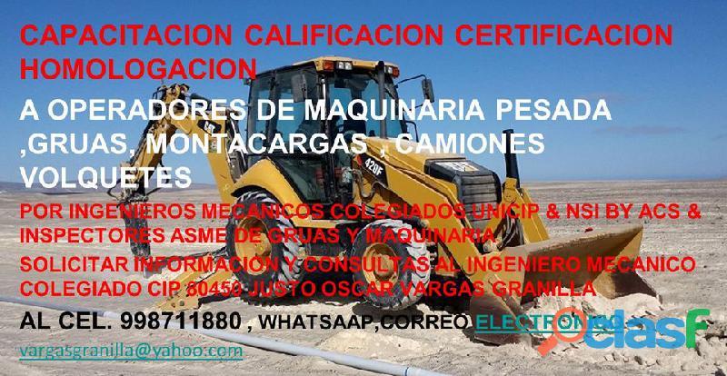 ESCUELA DE OPERADORES DE MAQUINARIA PESADA GRUAS MONTACAGAS Y EQUIPOS MINEROS 12