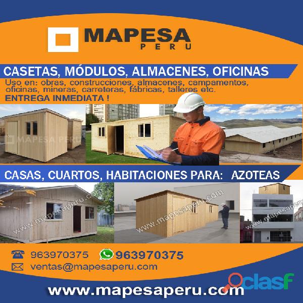 CONSTRUCCIÓN DE OFICINAS DE PREFABRICADOS DE MADERA PARA OBRAS EN LIMA PERU