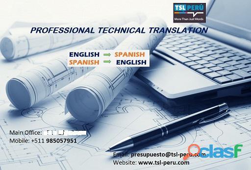 Intérprete y servicios de traducción en inglés y español con experiencia