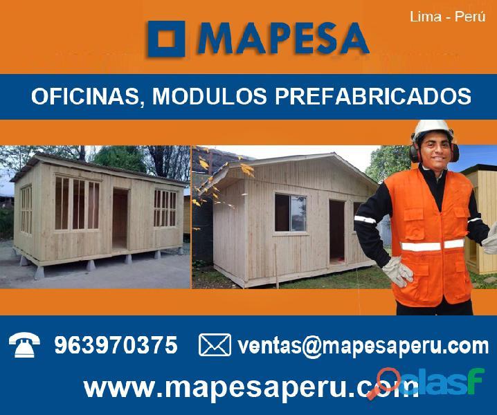 Cuartos habitaciones prefabricados de madera azoteas lima peru