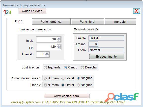 Sistema numerador foliador de páginas