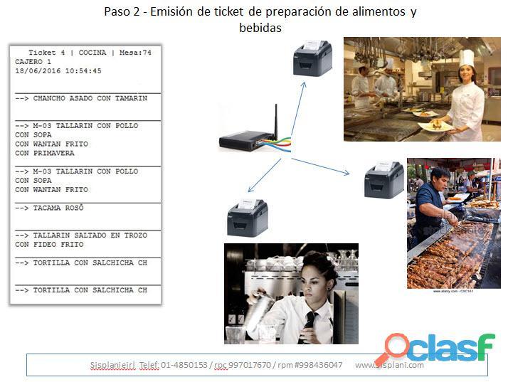 Sistema para restaurantes con tablet, pollerías, sandwicherías, bares, discotecas, karaokes 5