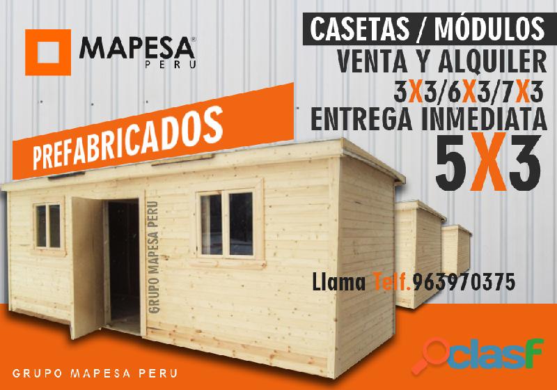 Construcción modular y servicio de alquiler venta