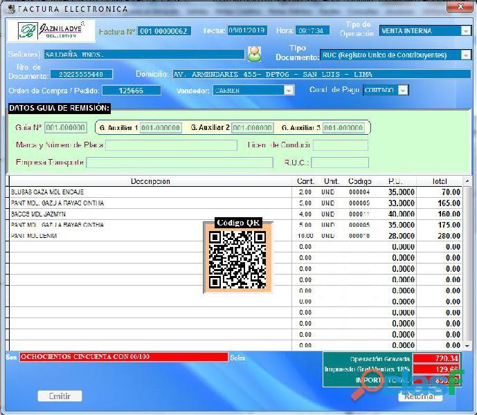 Sistema facturacion electronica básico de fácil uso y de pago