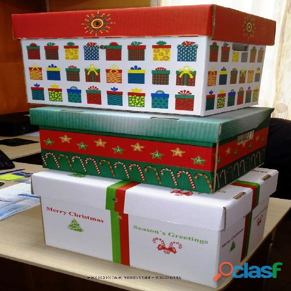 Cajas navideñas de carton lima