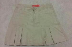Falda para niñas, color beige, talla