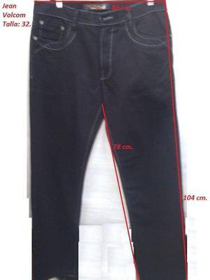 Pantalon Jean Volcom Talla 32 Semi Pitillo Focalizado En Lima Clasf Moda Y Accesorios