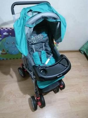 Coche para bebé baby happy con capota y bandeja nuevo