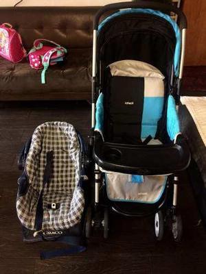 Vendo coche infanti y asiento de bebe para auto graco