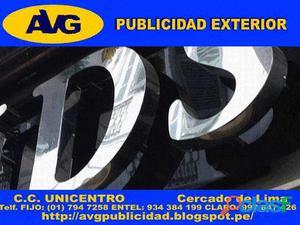 101AVG Letreros luminosos en LIMA PERU Letras de Acero Empresa especializada en la fabricación