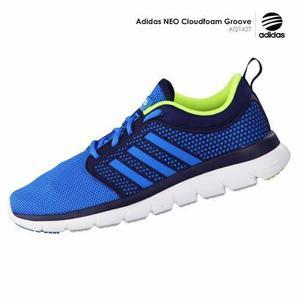 d83a86cfd3860 Zapatillas adidas neo cloudfoam groove - hombre correr azul