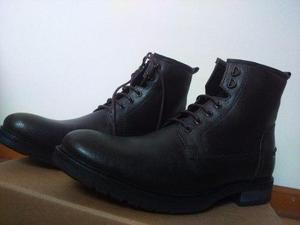 Zapatos/botines marca asos de cuero marron oscuro-importados