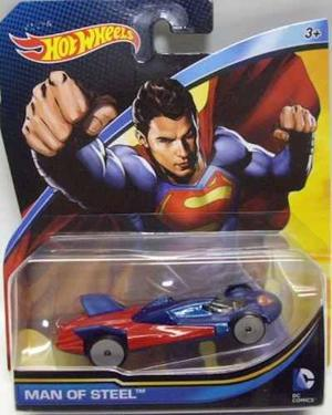 Hot wheels dc comics superman hombre de acero batman auto