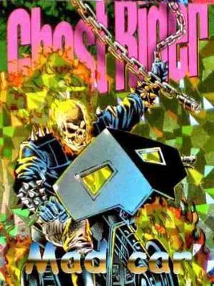 Mc mad car pepsi cards prisma ghost rider marvel comics