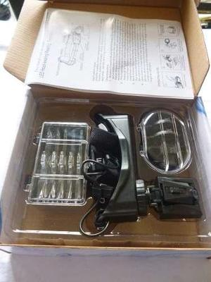 Gm lupa de cabeza + led + 8 lentes joyeria, relojeria,textil