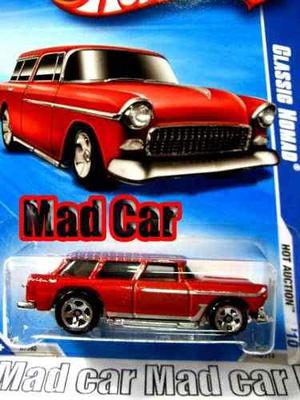 Mc mad car hot wheels classic nomad auto coleccion clasico