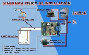 Módulo de control nivel de líquidos agua nivel alto bajo