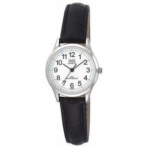 3ef89cc48f0c Oferta lindo reloj mujer cuero negro q amp q nuevo resist.agua