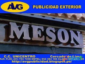 LIMA PERU AVG Letreros luminosos Letras de Acero AVG Empresa especializada en letreros