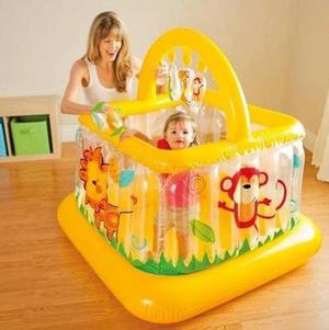 Corralito gimnasio inflable baby gym pelotero bebes niños