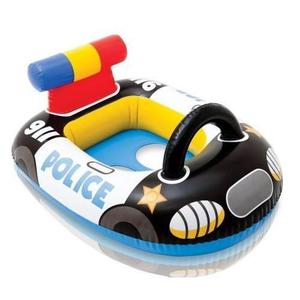 Flotador auto car policia inflable bebes niños playa