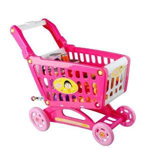 Juguete carrito de compras con productitos shopping cart