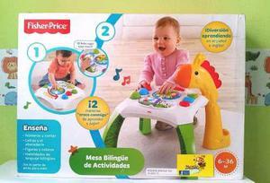Mesa de aprendizaje bilingûe fisher price original nuevo!