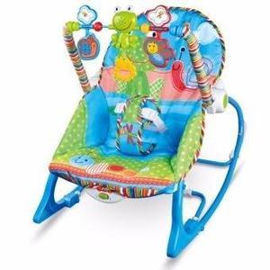 Silla y mecedora ranita con vibracion y melodias para bebe