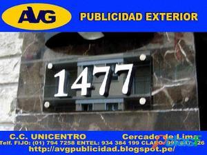 Fabrica de Letreros luminosos LIMA PERU AVG Letras de Acero AVG Empresa especializada