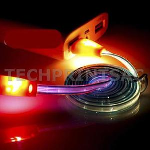 d34be863a Cable micro usb luz led multicolor carga y datos android
