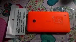 599bad84231 Pedido tapa bateria lumia 730-735 anaranjado nfc incluso