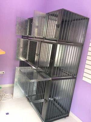Canil jaula de acero y fierro para 9 animales veterinaria