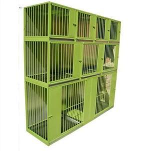 Caniles en acero y fierro para 9 animales veterinaria