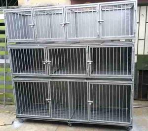 Caniles jaulas de fierro y acero para veterinaria groomer
