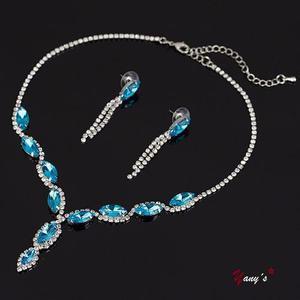 7c2c7e3738ae Collar mujer + aretes (con cristales austriacos) strass