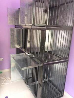 Jaula de acero y fierro para 9 animales veterinaria hopedaje