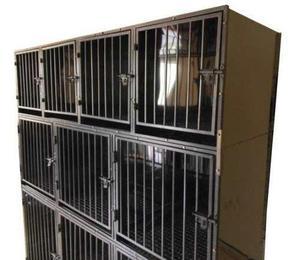 Mueble canil de acero inoxidable 10 animales uso veterinaria