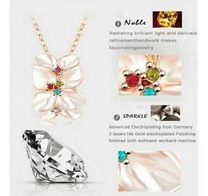 44126c08077b Set de collar de flores con anillo y aretes modelo 2016