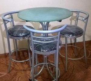 Venta de 03 juegos de mesas para bar, restaurante, comedor